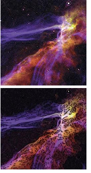 Space image before and after